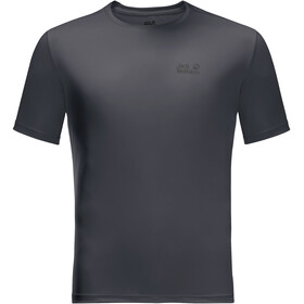 Jack Wolfskin Tech T-shirt Heren, ebony